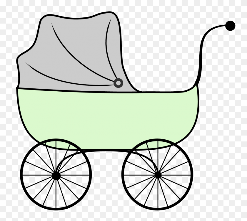 Baby Carriage Clipart - Baby Shower Clip Art Girl