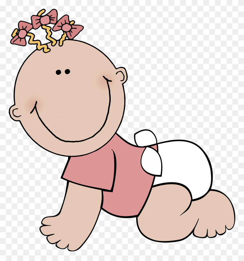 Baby Cliparts - Pink Baby Clipart