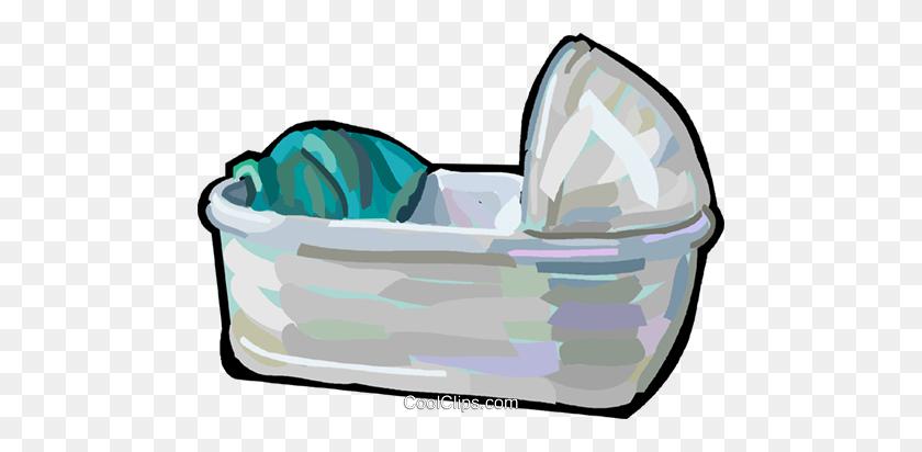 Baby Crib Royalty Free Vector Clip Art Illustration - Crib Clip Art