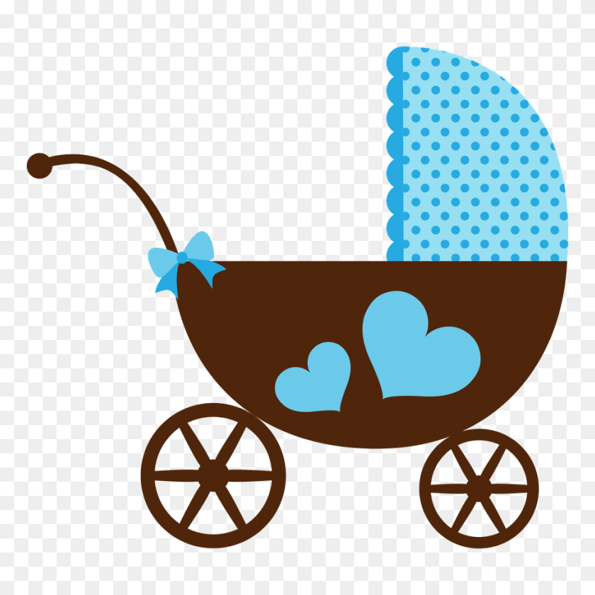 Baby Digis Baby, Baby Shower - Baby Carriage Clipart