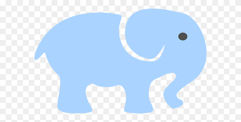 600x367 Baby Elephant Outline - Baby Elephant PNG