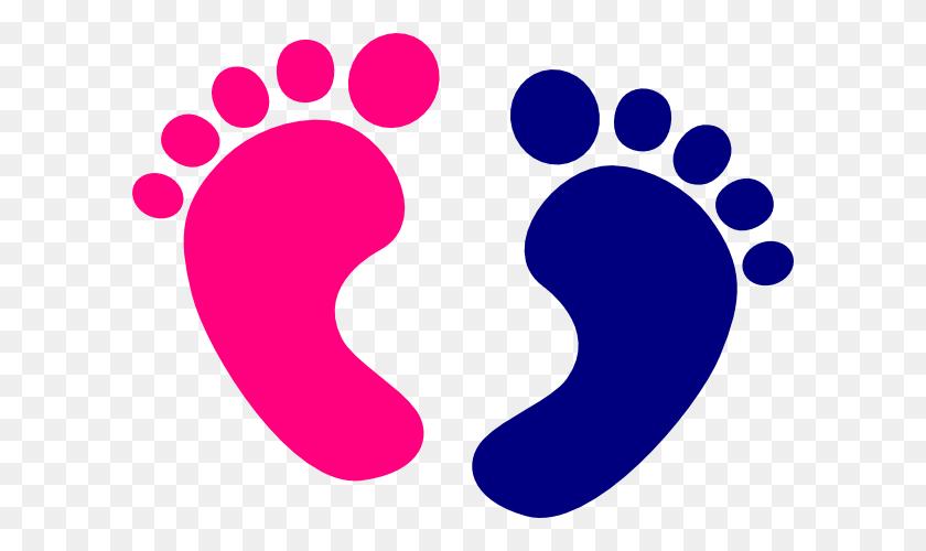 Baby Feet Clip Art - Pink Baby Clipart