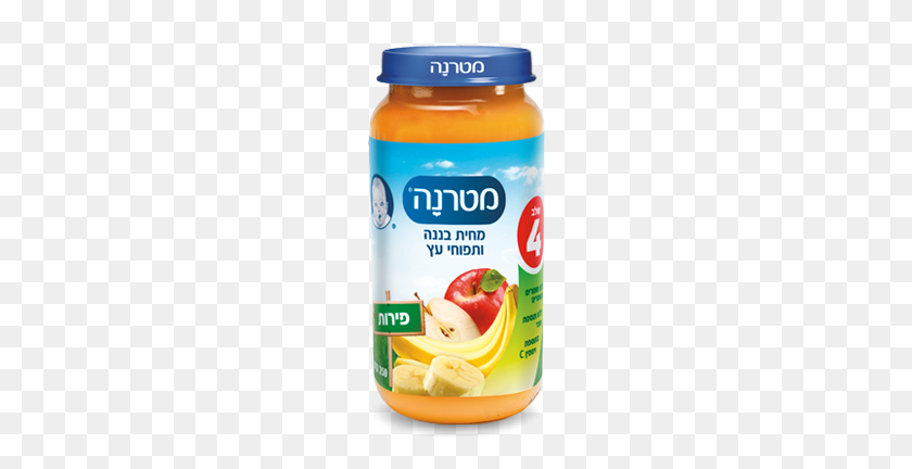 Baby Food Apple And Banana Puree Products Osem - Baby Food PNG
