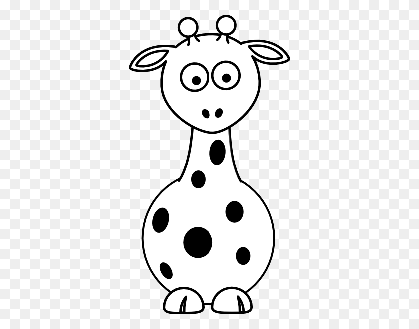 Baby Giraffe Clip Art Black And White - Baby Giraffe Clip Art