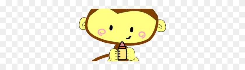 Baby Girl Monkey Clip Art - Girl Monkey Clipart