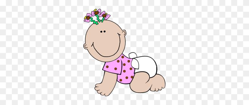 Baby Girl Polka Dot Clip Art - Cartoon Girl Clipart