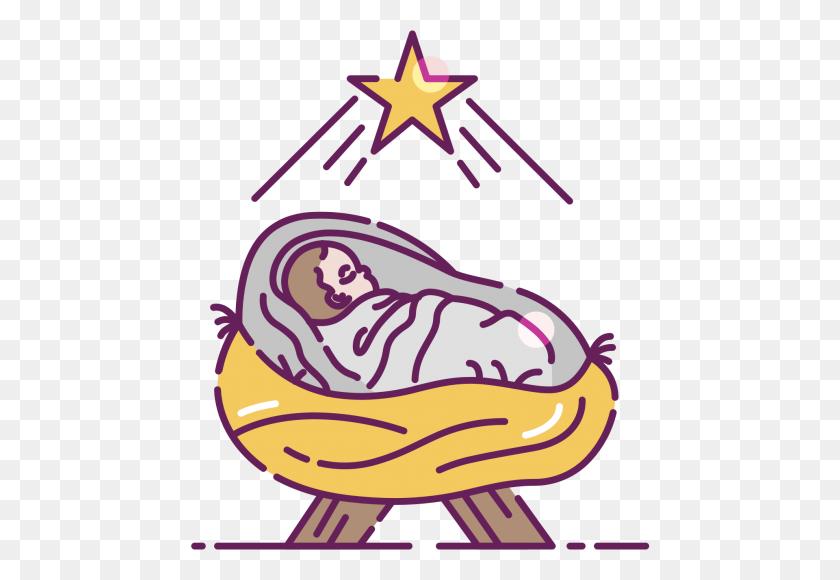 Baby Jesus In A Manger Clip Art - Manger PNG