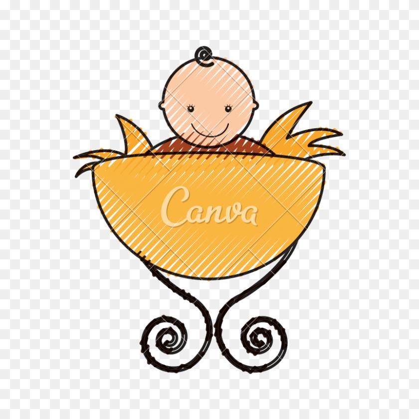 Baby Jesus In Manger - Manger PNG