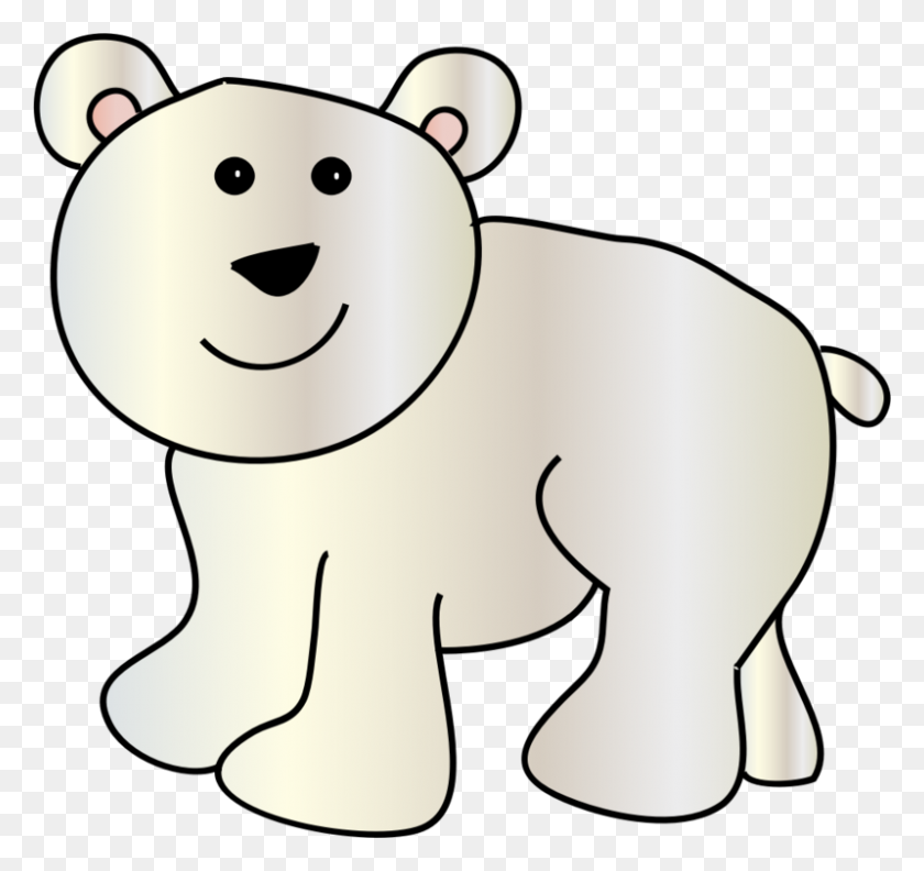 Baby Polar Bear American Black Bear Polar Bear Cubs Free - Polar Bear Black And White Clipart