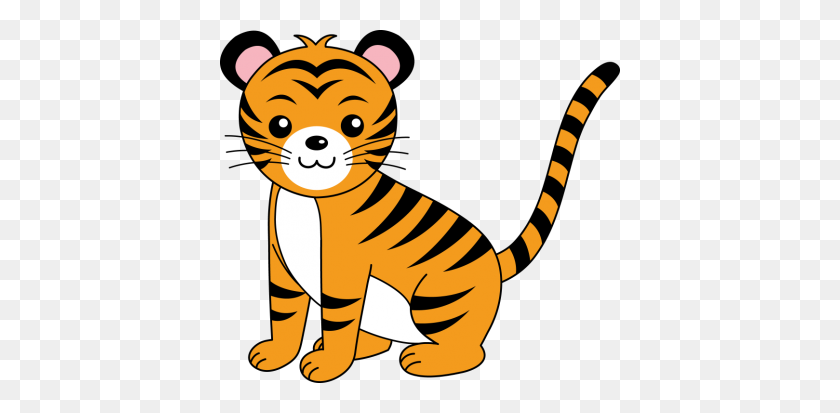 400x353 Baby Tiger Cliparts Free Download Clip Art - Saber Tooth Tiger Clipart