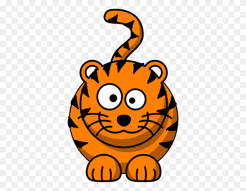 378x591 Baby Tiger Face Clip Art - Saber Tooth Tiger Clipart