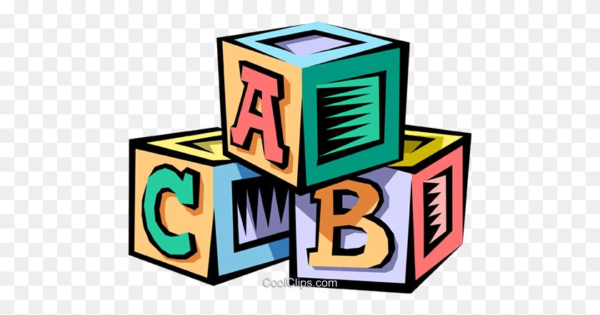 Baby's Blocks Royalty Free Vector Clip Art Illustration - Toy Blocks Clipart