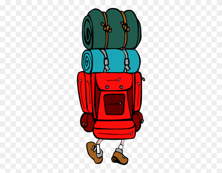 Backpack Clip Art - Open Backpack Clipart