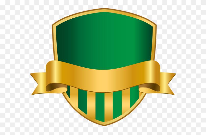 Badge With Banner Green Png Clip Art Image Frameborder Seal - Name Badge Clipart
