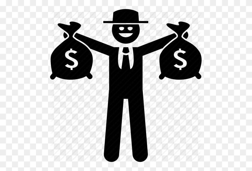 Bag, Boss, Criminal, Evil, Mafia, Money, Rich Icon - Mafia PNG