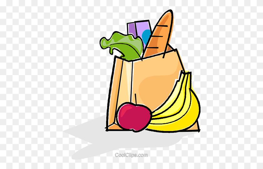 Bag Of Groceries Royalty Free Vector Clip Art Illustration - Banana Bread Clipart