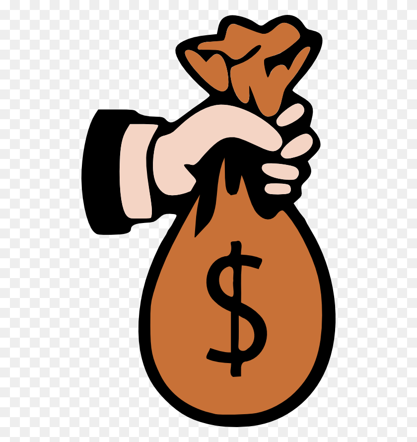 512x830 Bag Of Money Clipart - Sack Lunch Clipart