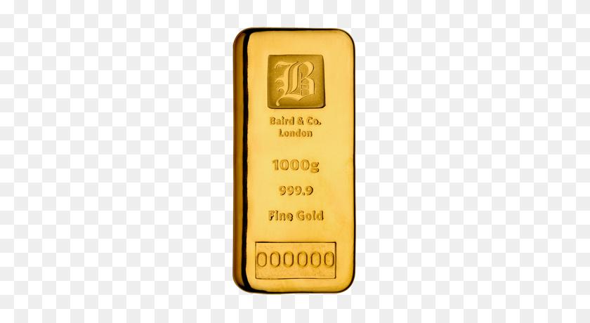 Baird Co Kilogram Cast Gold Bar - Gold Bar PNG