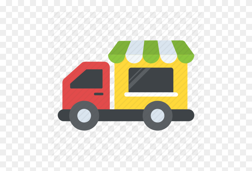 Bakery Van, Food Delivery Van, Food Truck, Food Vendor Truck - Food Truck Clip Art