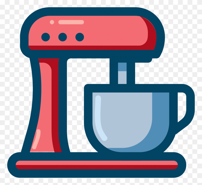 Baking Clipart Electric Mixer - Modest Clipart