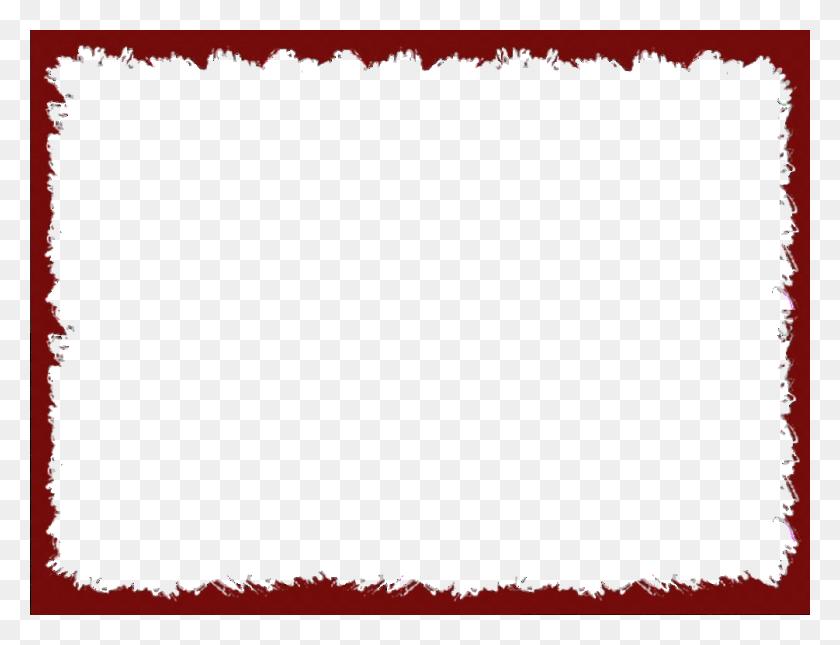 Baking Clipart Red Frame - Modern Border PNG