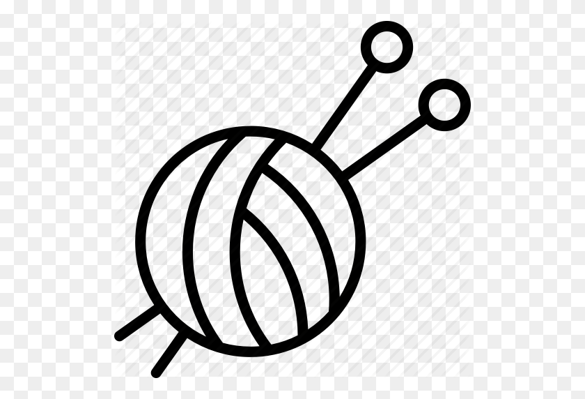 ball craft diy hobby knitting needles whool icon 910620