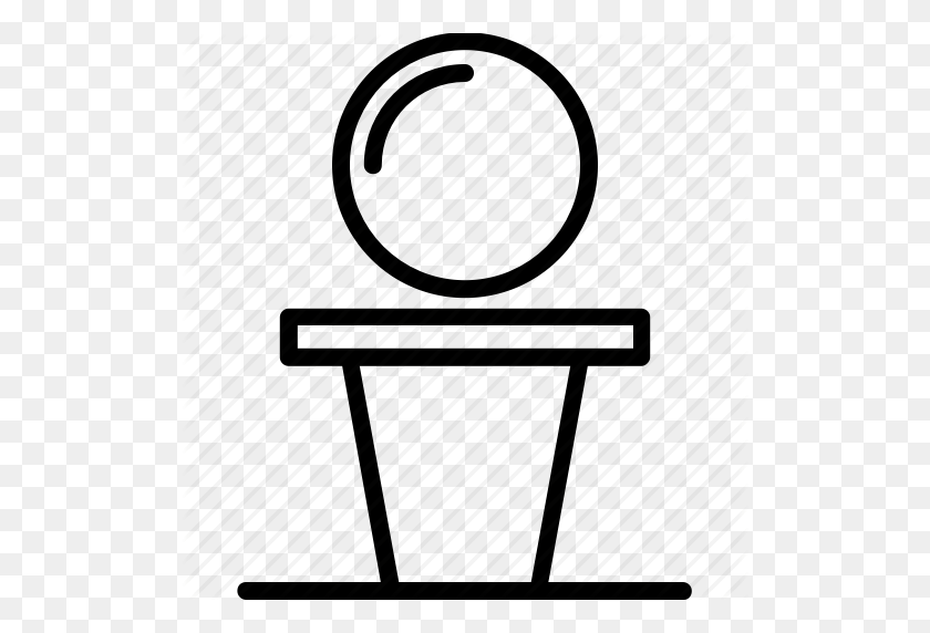 Ball Tee, Golf Ball On, Golf Ball Pin, Golf Tee, On Tee Icon - Golf Ball And Tee Clipart