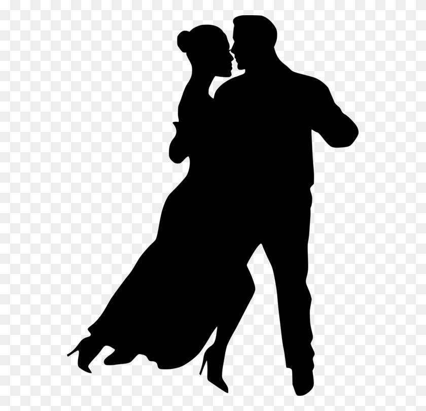 575x750 Ballroom Dance Partner Dance Silhouette - Swing Dance Clip Art