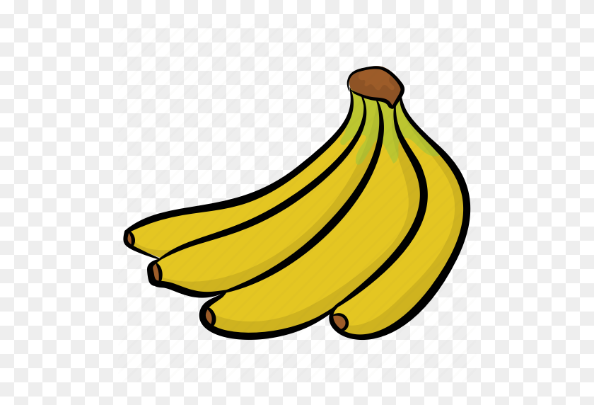 Bananas, Bunch Of Bananas, Food, Fruit, Healthy Diet Icon - Bunch Of Bananas Clipart