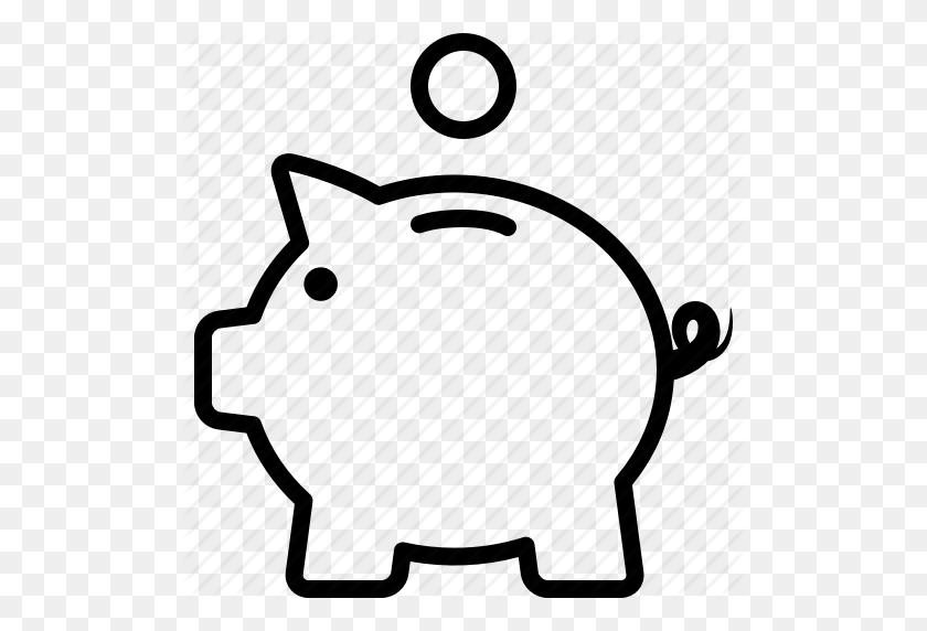 Bank, Coin, Deposit, Fund, Piggy, Piggybank, Savings Icon - Piggy Bank Clipart