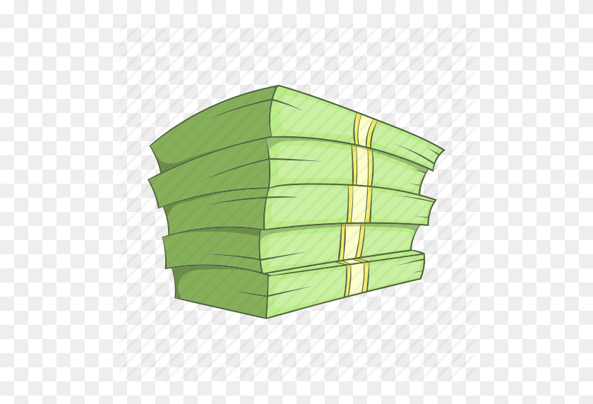 512x512 Banking, Cartoon, Cash, Currency, Money, Sign, Stack Icon - Money Cartoon PNG