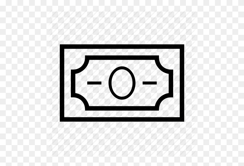 Banknote, Blank Dollar Bill, Cash, Dollar Bill, Finances, Money - Dollar Bill Clip Art Black And White