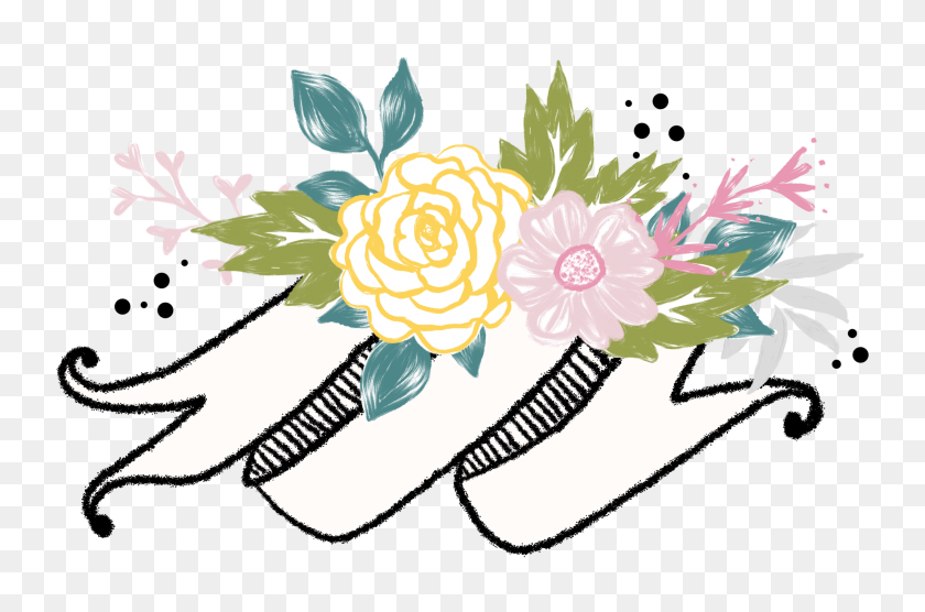 Banner Banners Dividers Divider Header Headers Flowers - Flower Header Clipart
