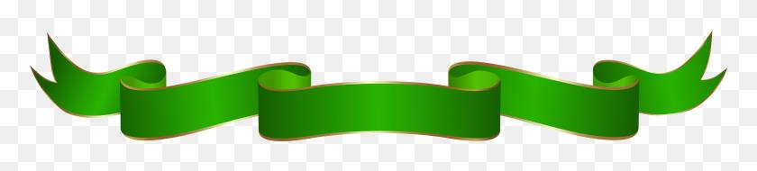 8000x1341 Banner Green Transparent Clip Art - Longboard Clipart