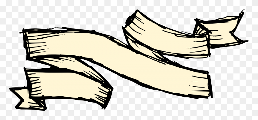 Banner Orange Ribbon Clip Art Gold Ribbons Transprent - Ribbon Banner Clipart Black And White