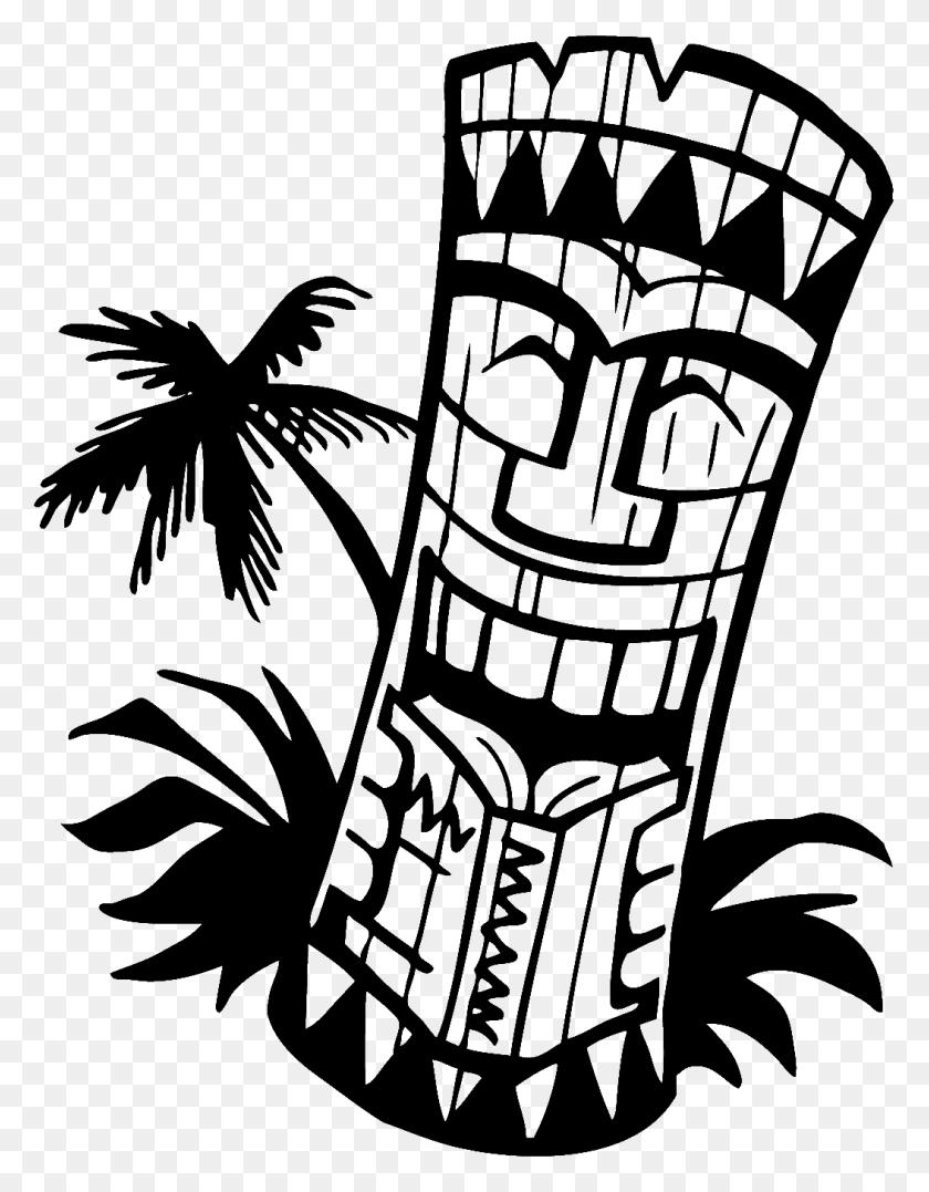 1054x1375 Bar Clipart Tiki Man - Luau Party Clipart