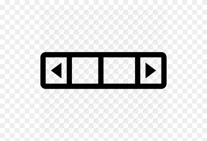 512x512 Bar, Component, Horizontal, Horizontal Scroll Bar, Scroll, Scroll - Scroll Bar PNG