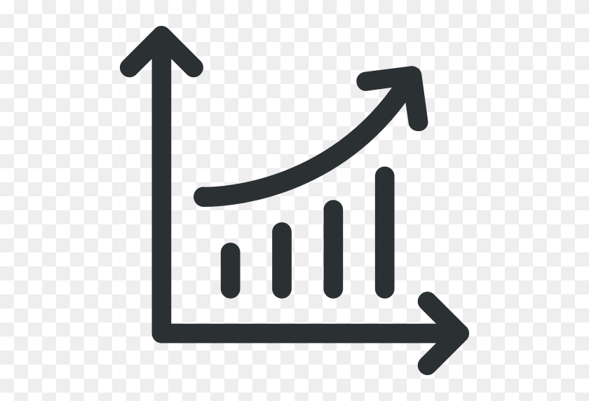 Bar Graph, Graph, Growth, Growth Graph, Line Graph Icon Icon - Line Graph PNG