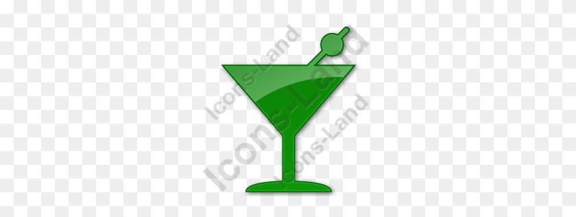 Bar Martini Plain Green Icon, Pngico Icons - Martini PNG