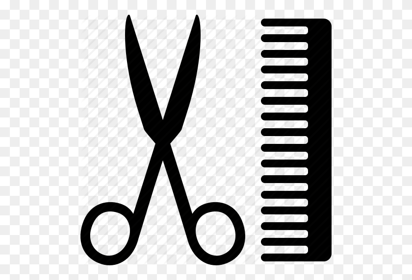 Black And White Comb And Scissors Silhouette. Hairdresser Tool.. Royalty  Free Cliparts, Vectors, And Stock Illustration. Image 127065375.