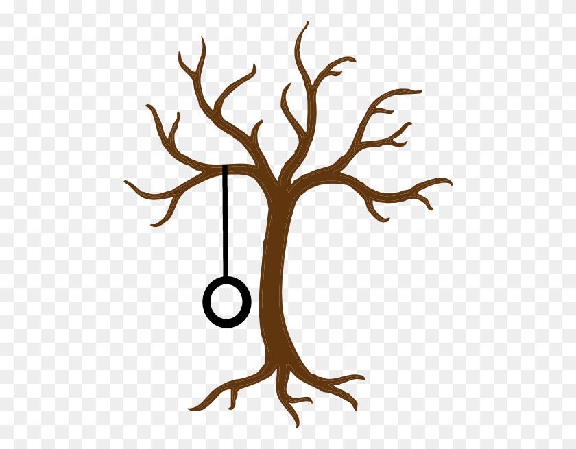 Bare Tree With Tire Swing Clip Art - Swing Clipart