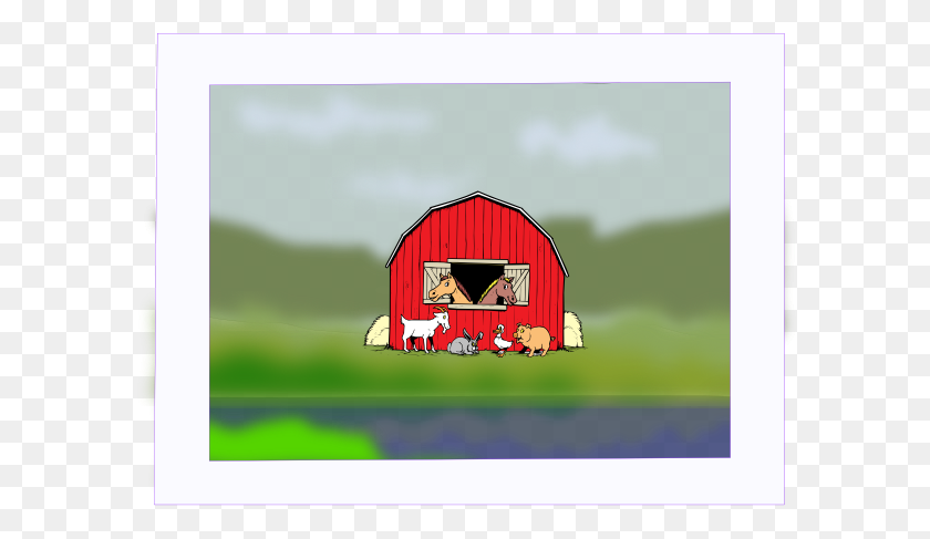 Barn Yard Painting Clip Art - Yard Clipart