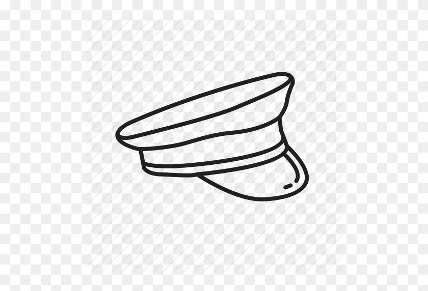 Barracks Cover, Captain Hat, Forage Cap, Military Hat, Officer Hat - Captain Hat PNG