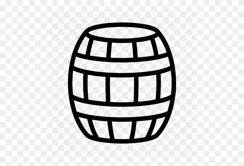Barrel, Beer, Petroleum, Whiskey Barrel, Wine Barrel, Wood Barrel Icon - Whiskey Barrel Clipart