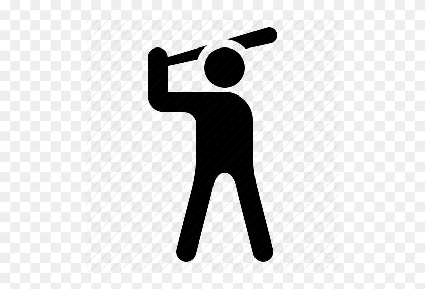 Baseball, Baseball Player, Batter, Player, Watchkit Icon - Baseball Batter Clipart