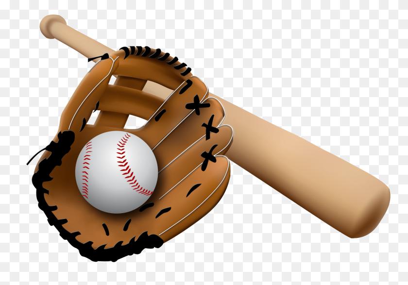 Baseball Glove And Bat Transparent Png - PNG Baseball