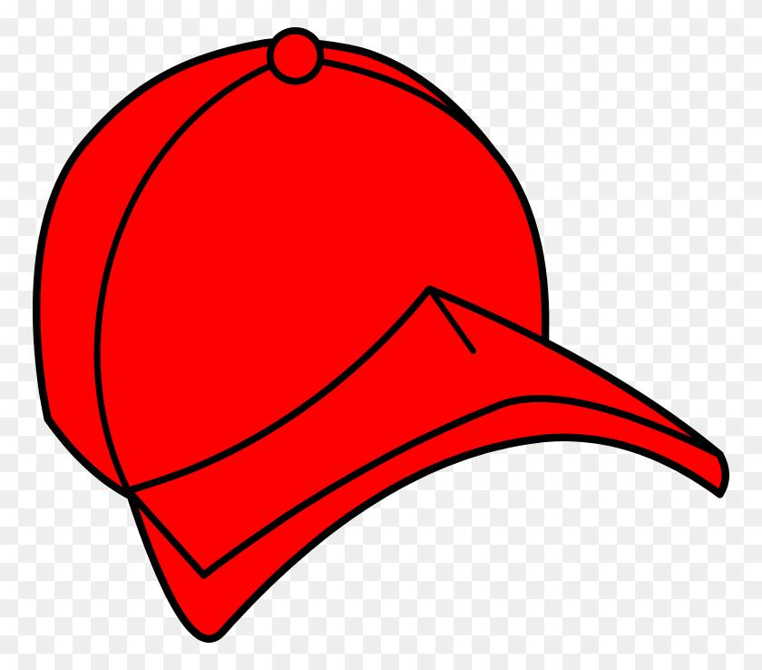 Baseball Hat Red Baseball Cap Clipart Free Clip Art - Baseball Hat Clipart Black And White