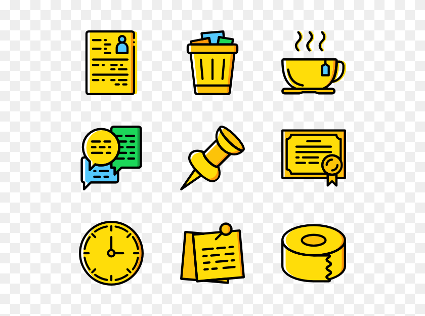 Basic Miscellany Icon Family Yellow - Yellow Line PNG