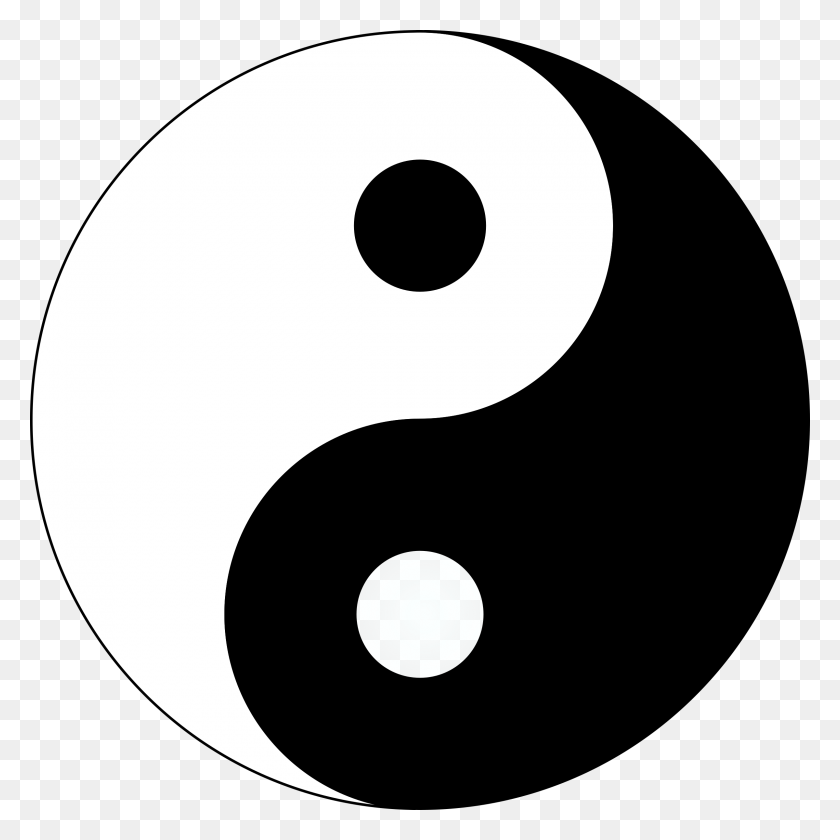 Basic Yin Yang Icons Png - Yin And Yang PNG