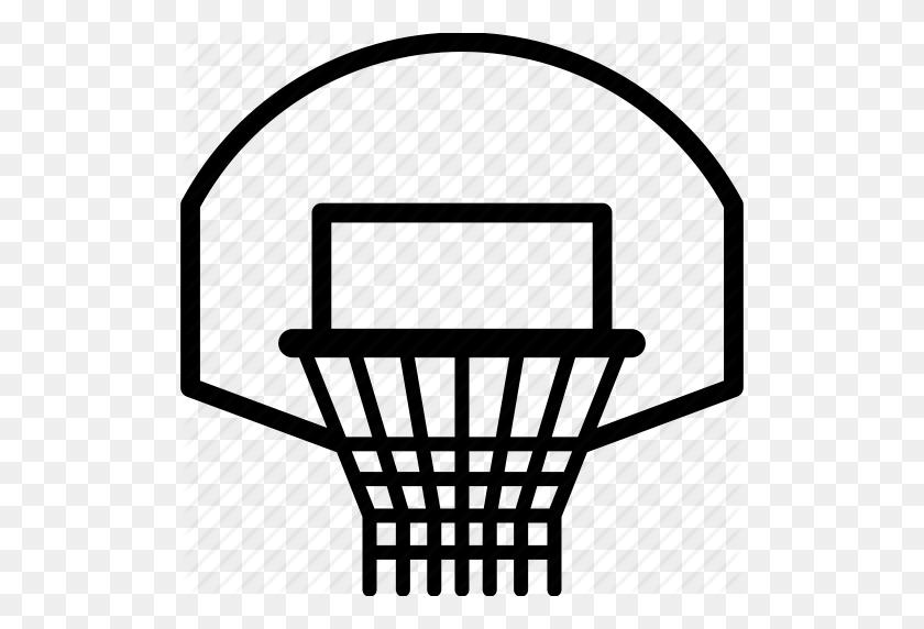 Basket, Basketball, Basketball Hoop, Sport Icon - Basketball Hoop PNG